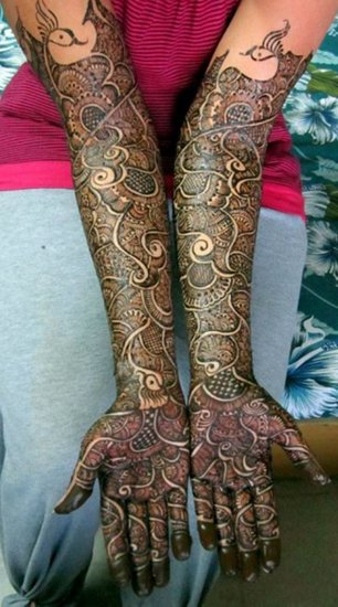 bridal arabic mehndi designs for full hands