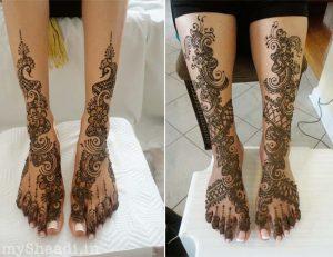 Leg arabian mehendi designs