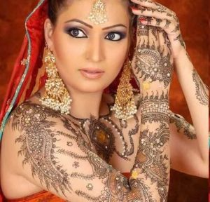 Celebrity full hand mehndi design