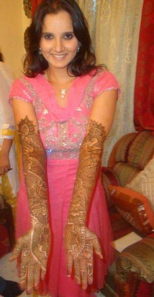 Sania Mirza Mehendi Design