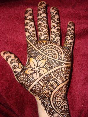Engagement Mehendi Design