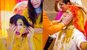 Side by Side haldi ceremony
