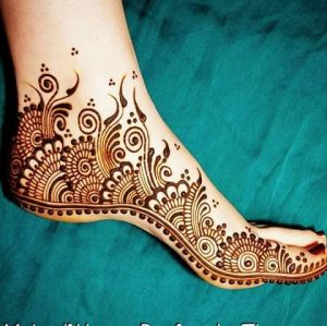Foot Mehendi Design