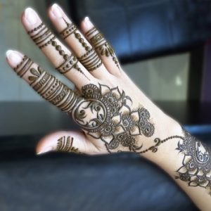 Back Hand Mehendi Design