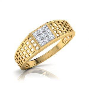 Gold mens ring