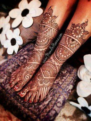 Bridal Mehendi Design for Foot
