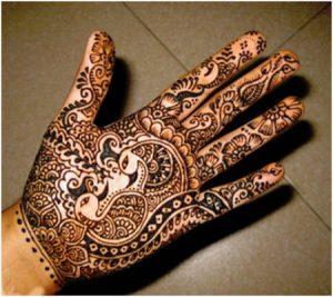 Peacock Mehendi Designs for Hands