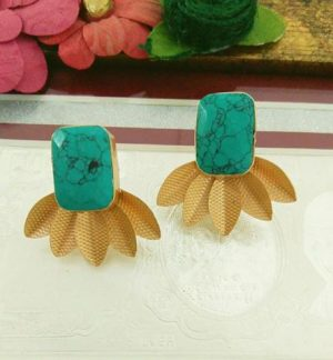 Gem studded earrings
