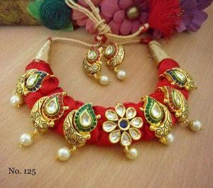 Rajasthani style stone studded nacklace
