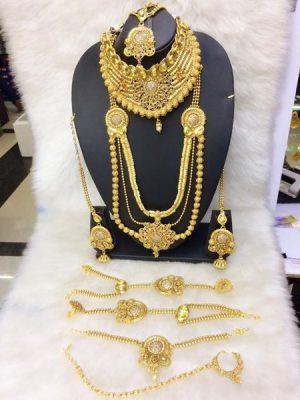 Rajshahi style gold Necklace Set
