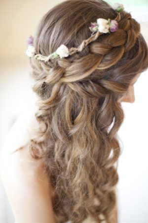 Cool looking brown party hair style
