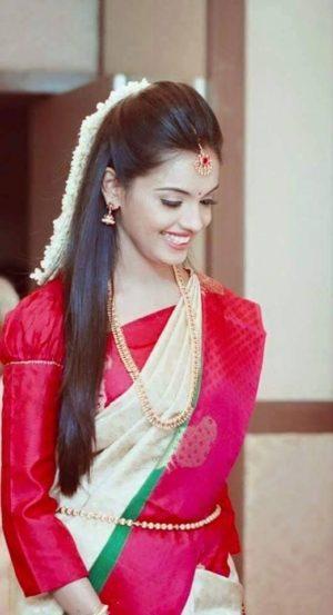 Straight Innocent bridal hair style