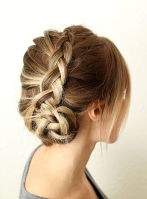 Party hairstyle in classic Indian style