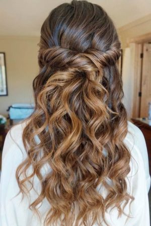 Classic Roman style party hairstyle