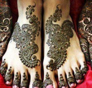 Sapora style feet mehendi design style