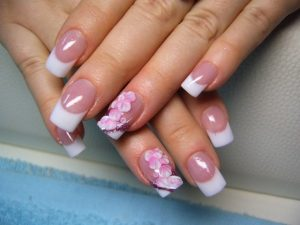 many pink shades nail art