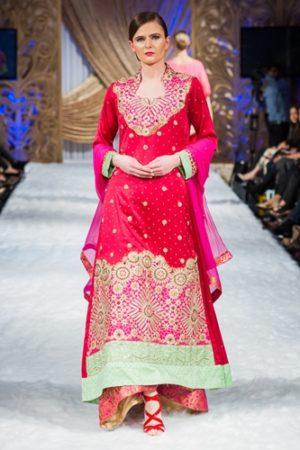 Pink Color Long Indo Western design