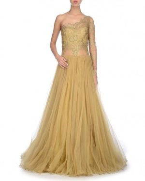Golden Fashion Dress