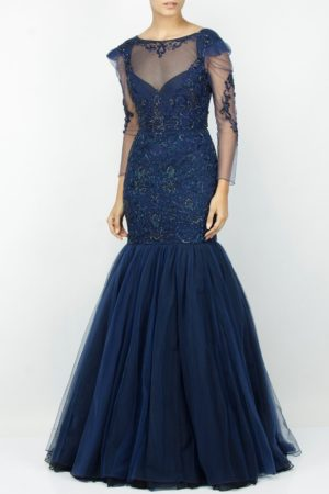 Fish Style Gown design – Backless