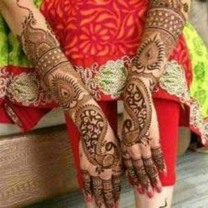 Punjabi Bridal style mehendi design