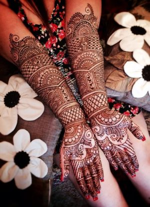 Bridal beautiful mehendi design