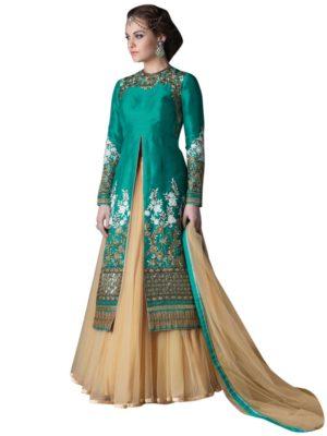 Green Indo-Western Dress
