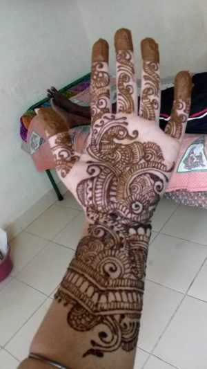 My Beautiful full hand heena design