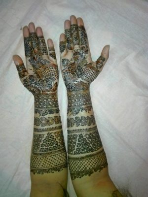 Mirror copy of my Mehendi design