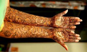 Full hand Anarkali style mehendi design