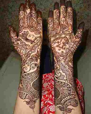 Wah rongoli style henna design