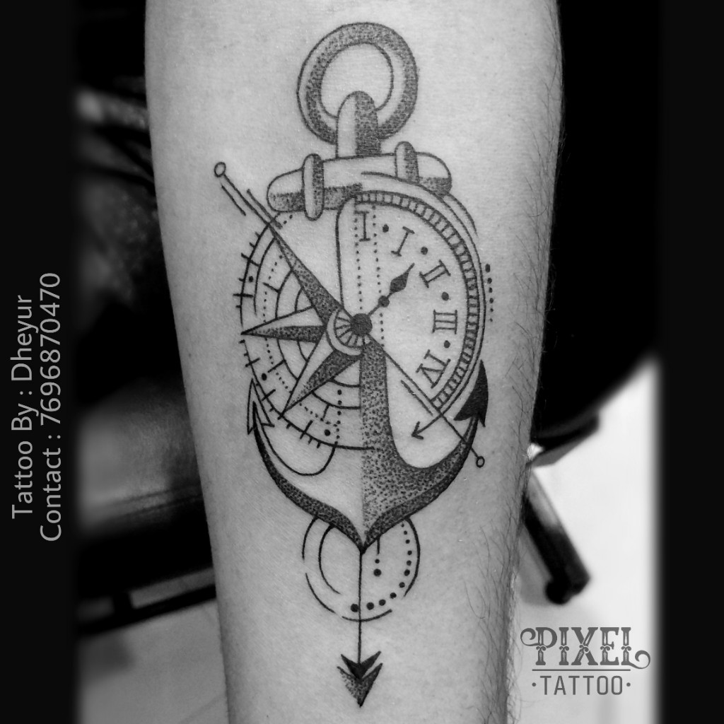 Compass-anchor-Tattoo