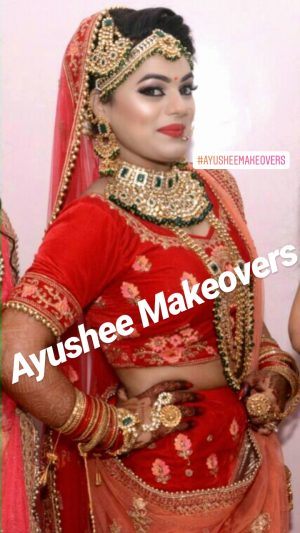 Bridal makeup at Ayushee Makeovers